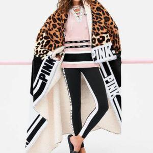 PINK FRIDAY Super Soft SHERPA Blanket Leopard